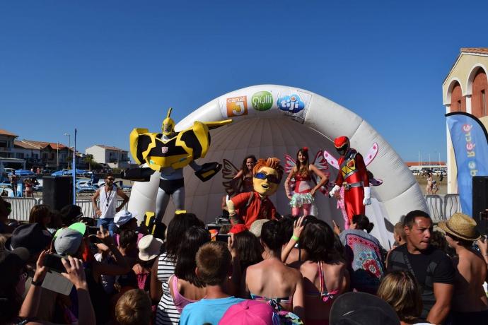 Show des mascottes à Port La Nouvelle