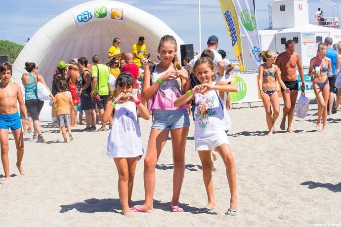 kids à la plage