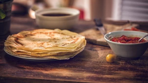 La recette de la crêpe à la tomate