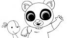 TiJi, enfants, peluches, dessins animés, héros, coloriages, doudou, Bing, couleurs, ours