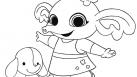 tiji, enfants, coloriages, couleurs, Bing, héros, dessins animés, doudou, peluches, lapins