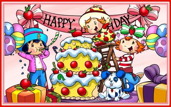 Charlotte aux Fraises et ses amies fêtent un anniversaire