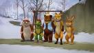 Franklin et ses amis jouent dans la neige