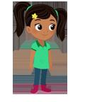 Le Monde de Nina, Nina, enfants, héros, dessins animés, TiJi