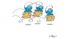 Les Schtroumpfs - La course en sac
