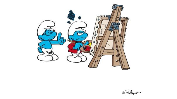 Schtroumpf peintre