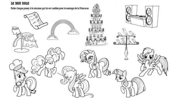 Activité à imprimer - jeu de logique - My Little Pony - Mariage