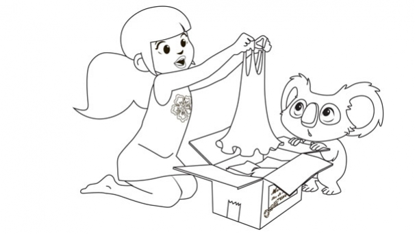 Marina fouille dans les cartons
