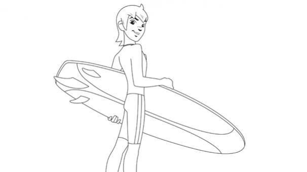 Yann part au surf