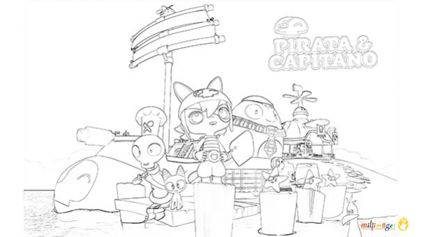 Coloriage Pirata & Capitano