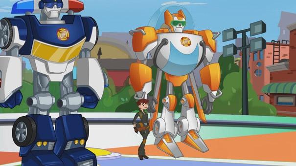 Transformer Rescue Bots, Dani, Blades et Chase