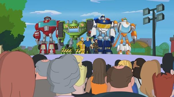 Transformers Rescue Bots, les Rescue Bots et la famille Burns