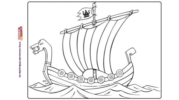 Coloriage Bateau Viking.Vic Le Viking