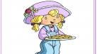 Angélique apporte des gâteaux