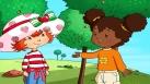 Charlotte aux Fraises et Fleur d'Oranger discutent dans le parc
