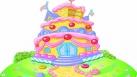 Une maison en forme de gâteau