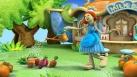 Annie arrose le potager