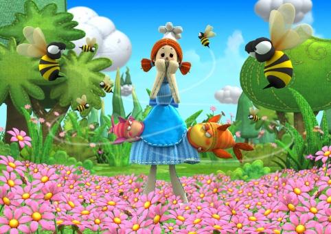 Annie est attaquée par des abeilles dans le jardin