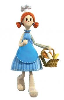 Annie porte un panier de friandises