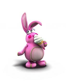 Bunny mange une glace
