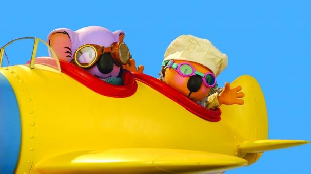 Les Frères Koalas dans leur avion