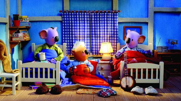 Les Frères Koalas ont invité Ned à dormir avec eux