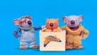 Ned en compagnie des Frères Koalas