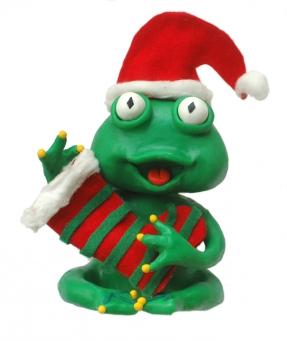 Reinette déguisée en Père Noël