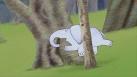 Max se coince entre deux arbres