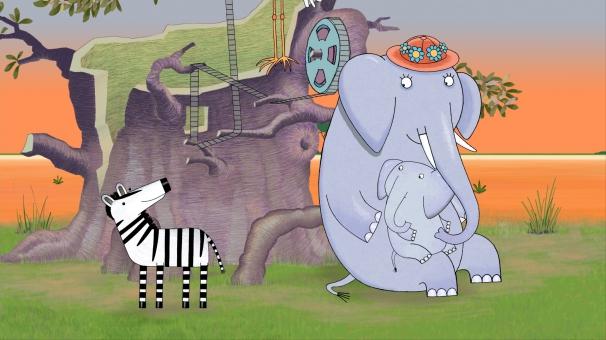 Mama explique à Max comment tous les animaux gagnent leur indépendance à chacun son rythme