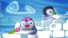 Ned et Nelly en train de construire leur igloo