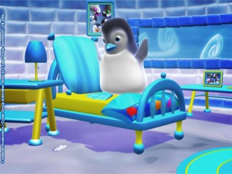 Ned saute a pieds joints sur son lit