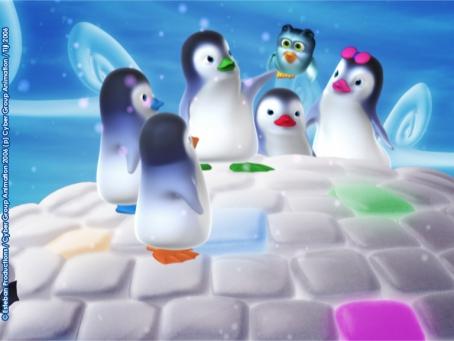 Les Ozie Boo réunis sur le toit de leur igloo