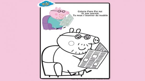 Peppa 3 extra colorings peppa h ros tiji - Jeux de papa pig ...