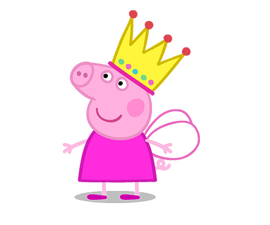 Free coloring pages of peppa pig fairy princess