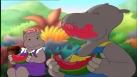 Tessie et Petit Potam mangent de la pastèque