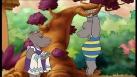 Petit Potam et Tessie jouent dans la forêt