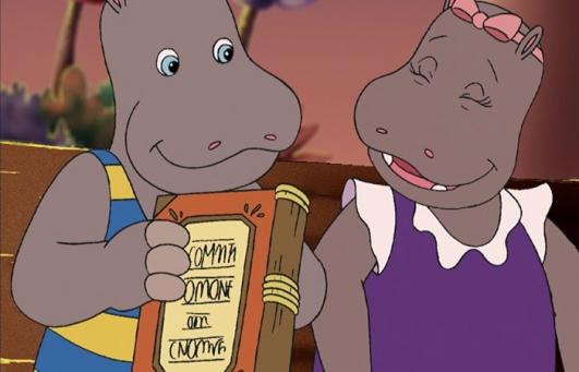 Petit Potam et Tessie vont lire un bon livre