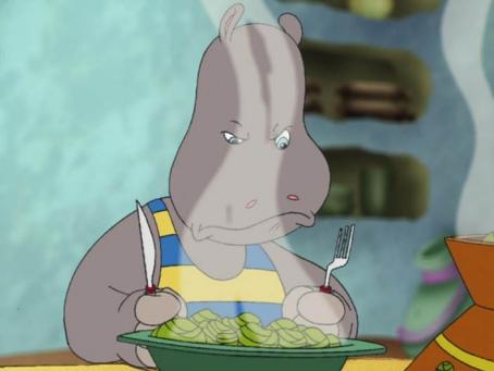 Petit Potam n'aime pas le repas que sa maman a préparé