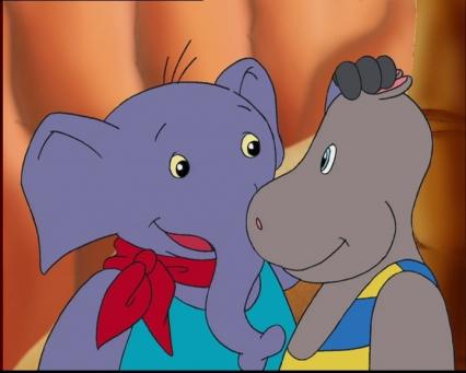 Petit Potam et son ami éléphant