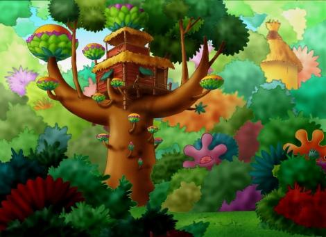 La maison de Petit Potam est dans les arbres