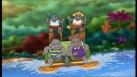 Les enfants Potam font du bateau en famille