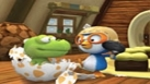 Crong et Pororo dans le salon