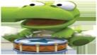 Crong joue du tambourin