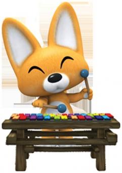 Eddy joue du xylophone