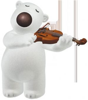 Poby joue du violon