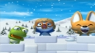 Pororo, Crong et Eddy fabriquent un igloo