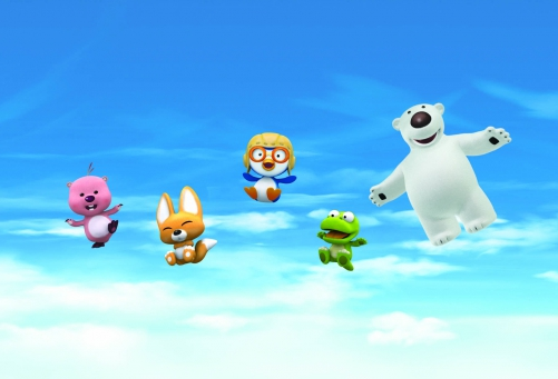 Pororo et ses amis dans les airs