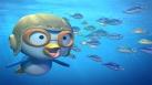 Pororo nage sous la banquise