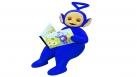 Tinky Winky lit un livre sur les Teletubbies !